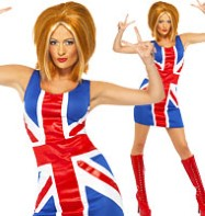 Union Jack Dress - Adult Costume Fancy Dress