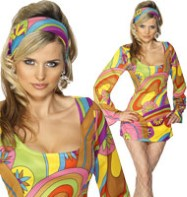 60's Flower Power - Adult Costume Fancy Dress