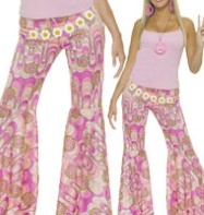 Flower Power Bell Bottoms - Adult Costumes Fancy Dress