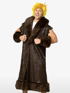 Deluxe Barney Rubble - Adult Costume Fancy Dress