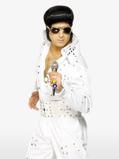 Elvis Rhinestone Jumpsuit - Adult Costume Fancy Dress