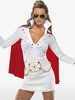 Elvis Viva Las Vegas White  - Adult Costume Fancy Dress