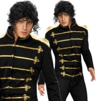 Michael Jackson Deluxe Military Jacket - Adult Costume Fancy Dress