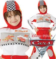 Fancy Dress - Boys Lightning McQueen Deluxe - Small
