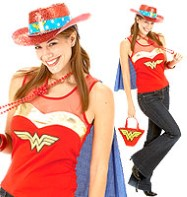 Wonder Woman Top - Adult Costume Fancy Dress