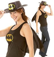 Batgirl Top - Adult Costume Fancy Dress