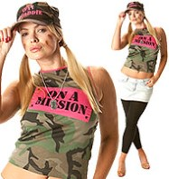 On a Mission Camo Vest - Adult Costume Fancy Dress