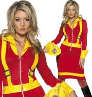 Female Firefighter - Adult Costume Fancy Dress