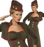 Army Girl - Adult Costume Fancy Dress