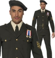 Wartime Officer - Adult Costume Fancy Dress