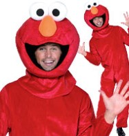Sesame Street Elmo - Adult Costume Fancy Dress