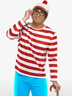 Wheres Wally - Adult Costume Fancy Dress