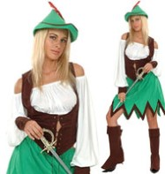 Robin Hood Lady - Adult Costume Fancy Dress