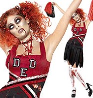 Horror Cheer Leader - Adult Costume Fancy Dress