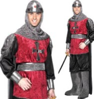 Medieval Knight - Adult Costume Fancy Dress