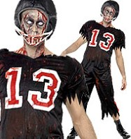 Horror Zombie Footballer - Adult Costume Fancy Dress