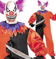 Scary Bo Bo the Clown - Adult Costume Fancy Dress