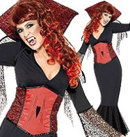 Miss Widow Vamp - Adult Costume Fancy Dress