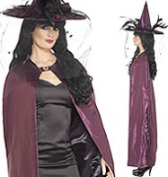 Reversible Cape Purple - Adult Costume Fancy Dress