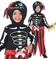 Pirate Skeleton - Toddler Costume Fancy Dress