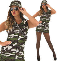 Camo Girl - Adult Costume Fancy Dress
