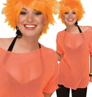 Mesh Top Orange - Adult Costume Fancy Dress