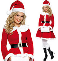 Miss Santa - Adult Costume Fancy Dress
