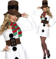 Miss. Snowman - Adult Costume Fancy Dress
