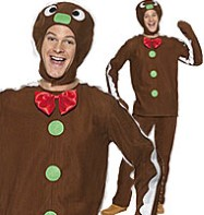 Gingerbread Man - Adult Costume Fancy Dress