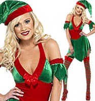 Elf Halterneck - Adult Costume Fancy Dress