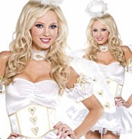 Angel Golden Heart - Adult Costume Fancy Dress