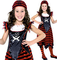 Gothic Pirate Girl - Child Costume Fancy Dress