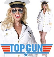 Top Gun Officer - Adult Costume Fancy Dress
