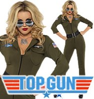 Top Gun Aviator Girl - Adult Costume Fancy Dress