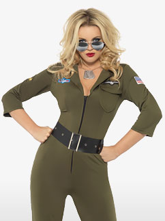 Top Gun Aviator Girl - Adult Costume