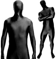 Morphsuit Black - Adult Costume Fancy Dress
