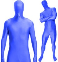 Morphsuit Blue - Adult Costume Fancy Dress