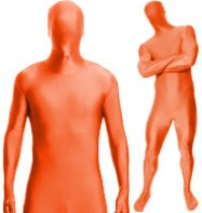 Morphsuit Orange - Adult Costume Fancy Dress