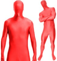 Morphsuit Red - Adult Costume Fancy Dress