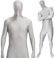 Morphsuit Silver - Adult Costume Fancy Dress