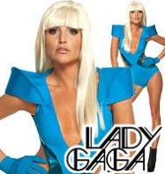 Lady Gaga Blue Swimsuit - Adult Costume Fancy Dress