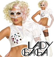Lady Gaga White Suit - Adult Costume Fancy Dress