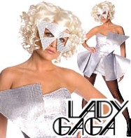 Lady Gaga Silver Sequin Dress - Adult Costume Fancy Dress