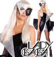 Lady Gaga Black Sequin Dress - Adult Costume Fancy Dress