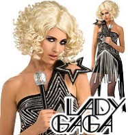 Lady Gaga Star Dress - Adult Costume Fancy Dress