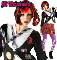 St. Trinians Emo - Adult Costume Fancy Dress