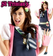 St. Trinians Flammable - Adult Costume Fancy Dress