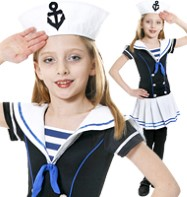 Sailor Girl - Child Costume Fancy Dress