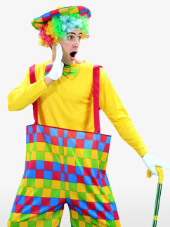 Rainbow Clown - Adult Costume Fancy Dress