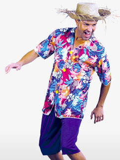 Hawaiian Shirt - Adult Costume Fancy Dress